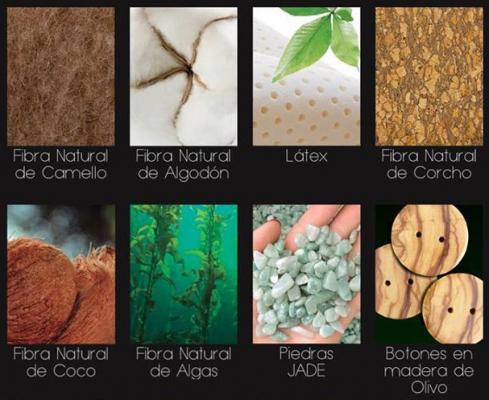 Componentes naturales colchón feng shui Onix